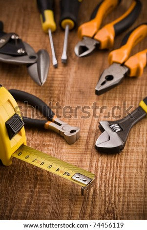 set of building tools