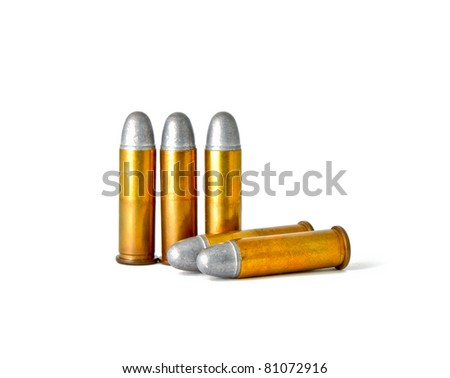 Set of bullets for 38 revolver hand gun