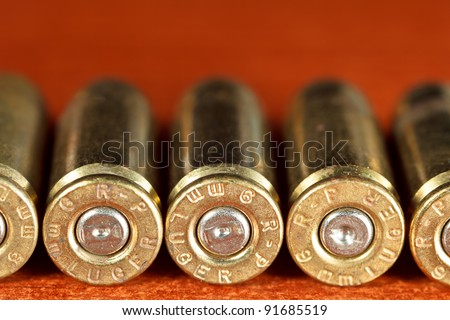 Set of bullets of hand gun