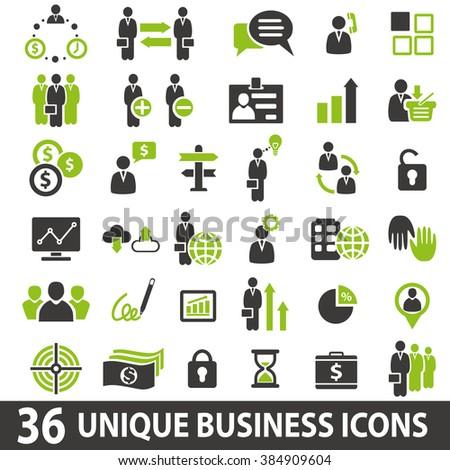 Set of 36 business icons. Business icons set. Business icons illustration. Business icons set jpeg