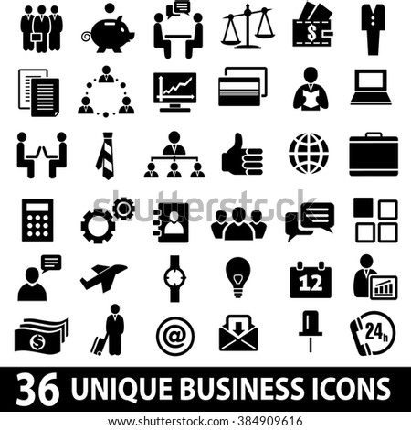 Set of 36 business icons. Business icons set. Business icons illustration. Business icons set jpeg