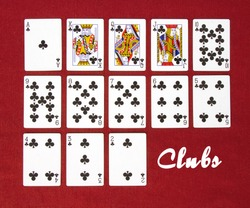 Set of Cards...All the Clubs!