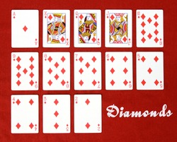 Set of Cards...All the Diamonds!