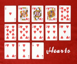 Set of Cards...All the Hearts!