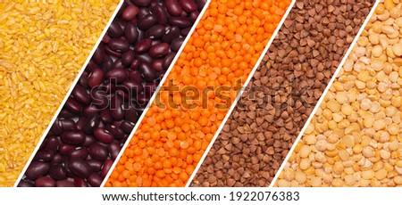 set of cereals. Healthy vegetarian food Foto stock ©