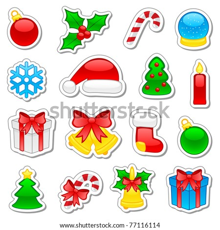 Set of Christmas icons, illustration