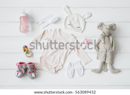 Set of clothing and items for a baby #563089432