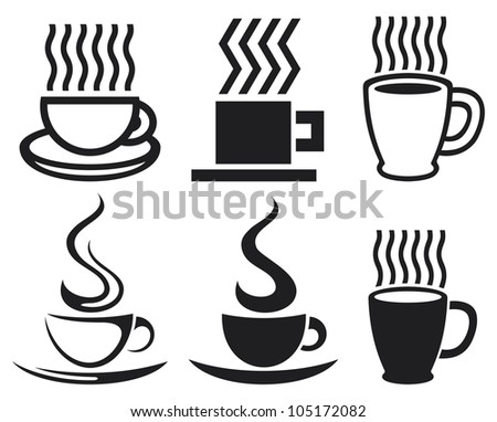 set of coffee cup icons (coffee cups, coffee mugs)