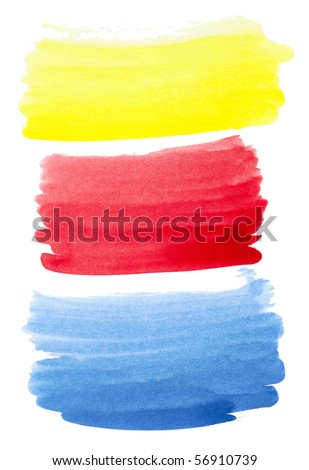 Set of color brush strokes