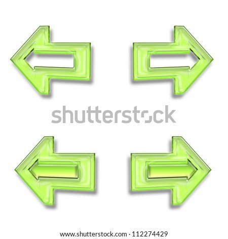 Set of color 3d web icons