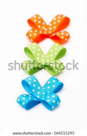 Set of colorful gift bows. - stock photo