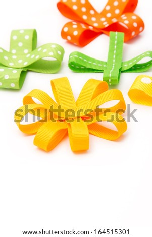 Set of colorful gift bows.