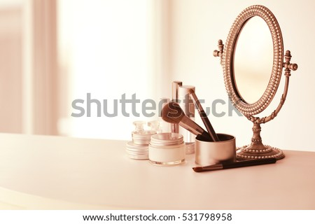 set of cosmetics and vintage...