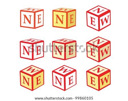 set of cube icons New illustration