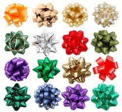 set of decorative bows