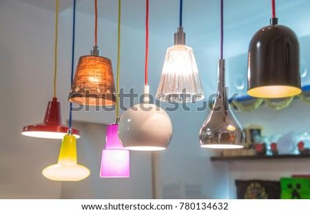 set of decorative lamps #780134632