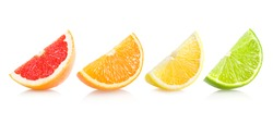 set of different citrus slices