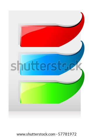 Set of different color pointer, sign. Vector version available in my gallery.