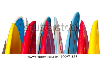 Isolated stock microstock surfboard image