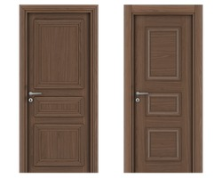 Set of different door isolated on white background