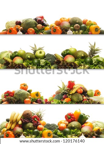 Set of different fresh tasty vegetables isolated on white