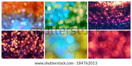Set of different holiday abstract backgrounds