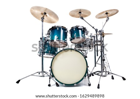 Set of drums  isolated on white background Stockfoto ©