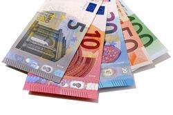 Set of Euros isolated on white