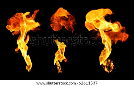 Set of explosions - stock photo