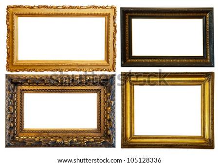 set of few horizontally gilded...