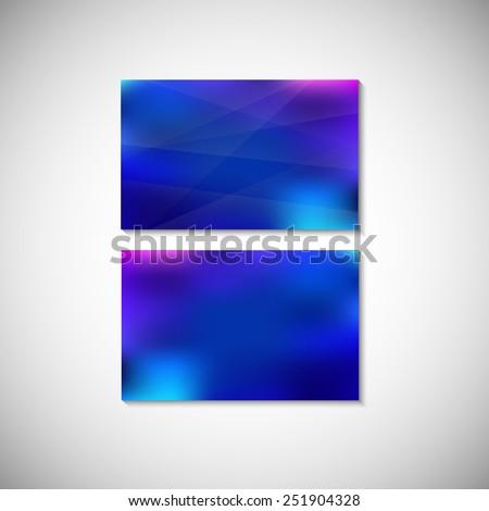 Set of four business cards design template. Business card banner design template. Corporate style design template.