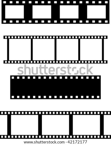 ... of four different filmstrips for backgrounds, frames, designs, etc