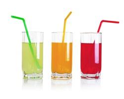 Set of fruit drinks