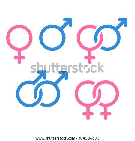 Royalty Free Set Of Gender Symbols And Relationship 284806145