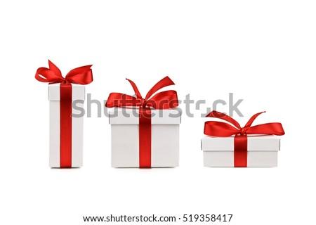 set of gift box isolated #519358417