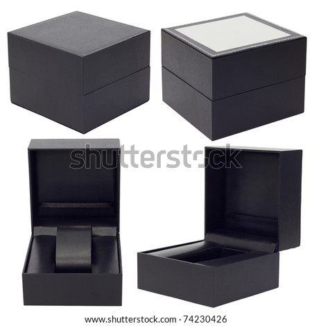Set of gift box on a white background