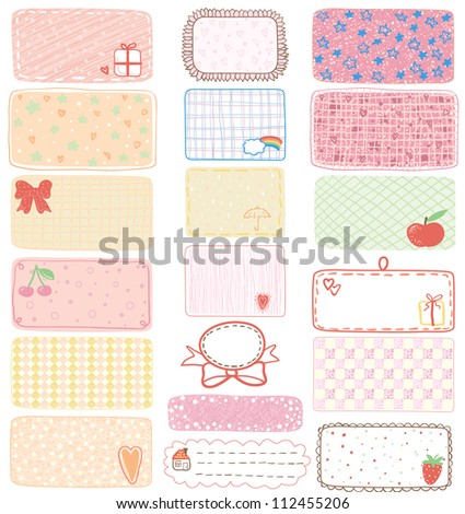 Set of gift tags, labels or sticker, illustration