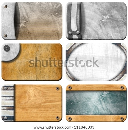 Set of Grungy Business Cards Backgrounds Six grunge backgrounds for the business card with clipping path