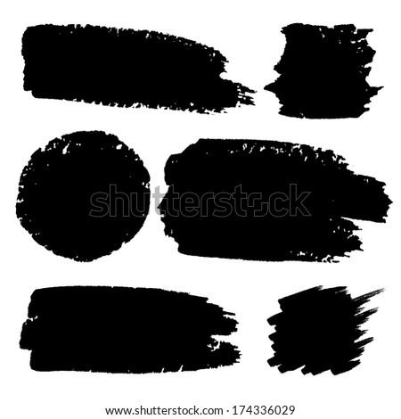 Set of Hand Drawn Grunge backgrounds. Raster Illustration  #174336029
