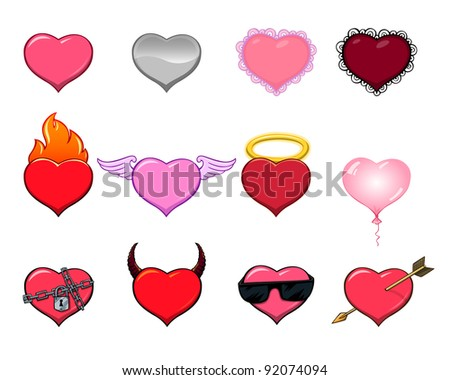 set of hearts 1