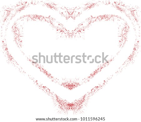 Set of Hearts . Grunge stamps collection.love Shapes for your design.Distressed symbols. Textured Valentine's Day signs.Vector illustration. #1011596245