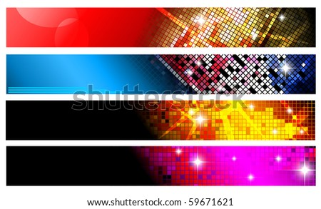 Set of horizontal banners | party collection. Vector version available in my gallery.
