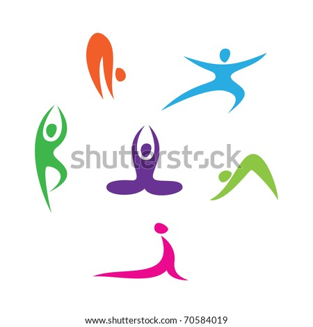 set of icons - Yoga