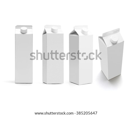 set of juice boxes. Retail package mockup set