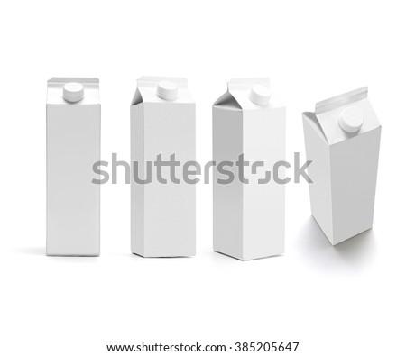 set of juice boxes. Retail package mockup set