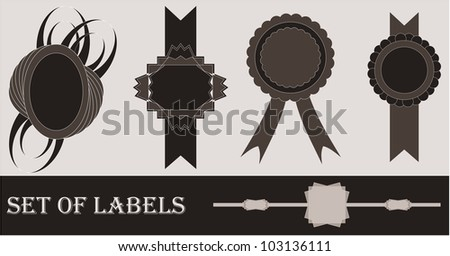 Set of labels - stock photo