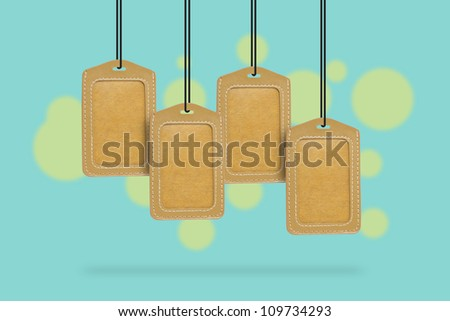Set Of Leather Blank Tag