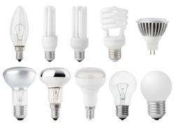 Set of Light bulbs isolated on white