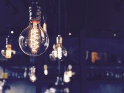 Set of light bulbs retro style