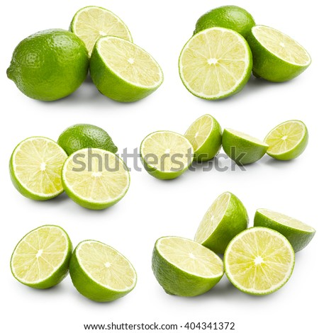 Set of lime isolated on white background #404341372